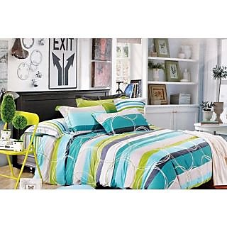 Valtellina Mesmeric Circle  Print Double Bed Sheet (MY-022)