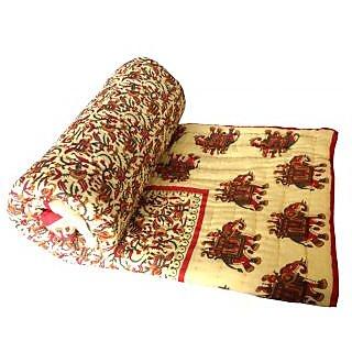 Shop Rajathan Jaipuri World Famous Light Weight Double Bed Quilt Razai Rajai .