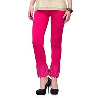 Sukuma Stylish Pink Cotton Plazzo Legging