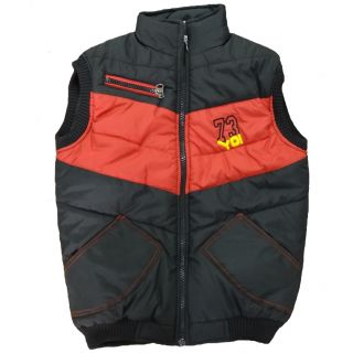 Alfa Yo Premium Sleeveless Boys Jackets - Red/Black