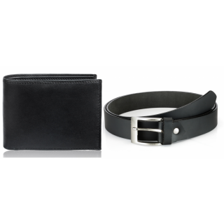 Rico Sordi Leather Wallet & Leather Belt(Design 2)(Rsmw_34_36_Wb)