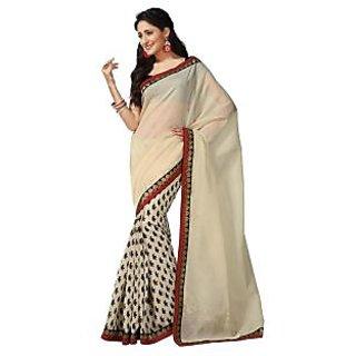 Subhash Printed saree with matching blouse.