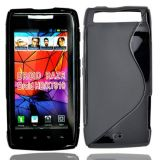 Black S Line Soft TPU Gel Case Cover Skin For Motorola RAZR XT910