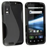 Black S Line Soft TPU Gel Case Cover Skin For Motorola ATRIX