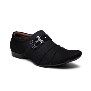 Foot 'n' Style Unruffled Black Slip-on Shoes (fs118)