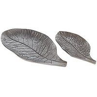 Serving Platter 2 Pcs Lotus Leaf Platter Set