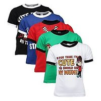 Goodway Junior Boys Colour 5 pcs Smart Pack - Atitude Prints - 3-4Yrs