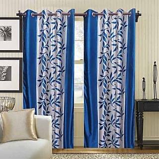 Ambience Leaf Eyelet Door Curtain (Pack of 2) - 5 option
