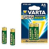 VARTA PROFESSIONAL ACCUS 2xAA 2700mAh Rechargeable Batteries