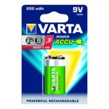 VARTA Power Accus 1x9V 200mAh Rechargeable Batteries ( Pack Of 2 Pcs. )