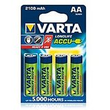 VARTA LONGLIFE ACCUS 4AA 2100mAh Rechargeable Batteries