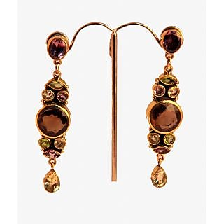 Porcupine Semi Precious Gems Stone Earrings PN-JW-ER-495