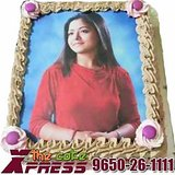 Personalized Edible Photo Cake-Delhi NCR