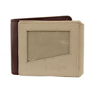 Jsm Formal Brown & Aivary Sobar 3 Fold Wallet For Men JSMFHWT0300