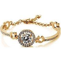 Cyan Gold Plated Zircon Bracelet