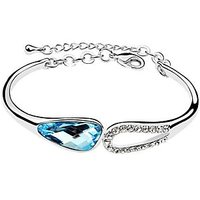 Cyan Austrian Crystal Charm Bracelet