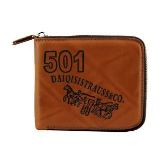 Jstarmart 501 Brown Zip cowboy Wallet For MenJSMFHWT0308
