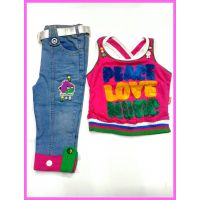 Kids Girls Top and Jeans Capree:CB-1742(2.5-7 Years)
