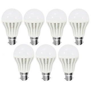 COMBO OF 7 PCS LED BULB - 7W BRIGHT WHITE LIGHT SAVING ENERGY