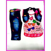 Kids Girls Top and Jeans Capree:CB-1941(2.5-7 Years)
