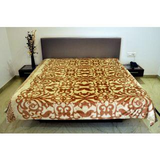 Valtellina Delicate Vine Design Single Bed Blanket (PFS-009)