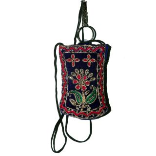 Porcupine Ethnic Navy Blue Mobile Pouch