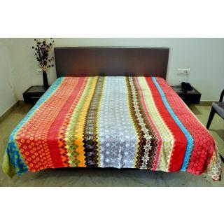 Valtellina Classy Multi-Color Design Double Bed Blanket (PFD-004)