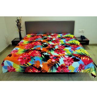 Valtellina Colorful Floral Design Double Bed Blanket (PFD-012)