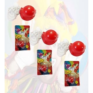 Set of 3 Red Clown Noise