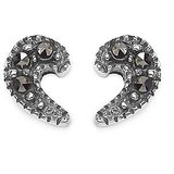 Johareez 0.70 Grams Marcasite .925 Sterling Silver Earrings