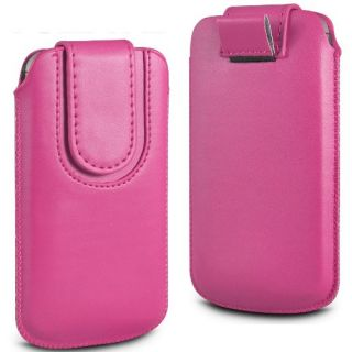Wow Pu Leather Magnetic Pull Tab Protective Pouch For Sony Ericsson Xperia Ray ST18i 4MPDPinkXPST18i
