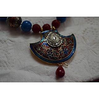 Jaipur Meenakari Pendant Set with Earrings