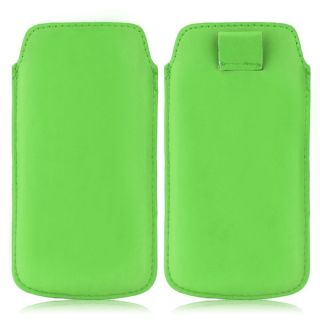 Wow Pu Leather Pull Tab Protective Pouch For Lava Iris 408e (Green) 4PTGreenLAVA 408e