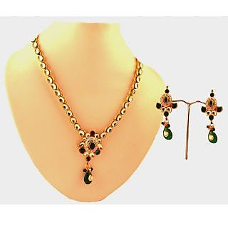 Porcupine Kundan Necklace Set With Matchng Earrings PN-JW-NS-356