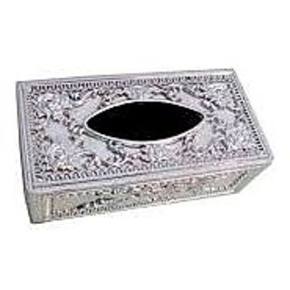 Autosun Castle Designer Tissue Holder Box Silver Colour