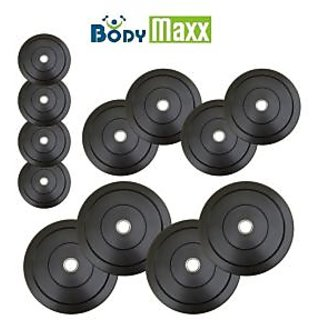 Body Maxx Rubber Weight Plates 10 Kg Home Gym Weight Lifting Plates With Bush