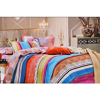 valtellina  lovely line Print Double Bed Sheet (CS-002)