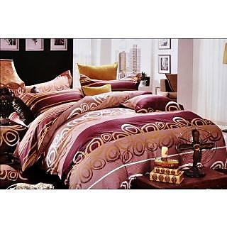 Valtellina Excellent Lining Print Double Bed Sheet (CS-020)