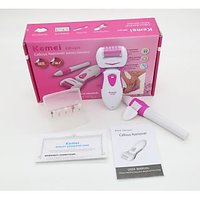 KEMEI KM-2501 Battery operated 360 degree 2 in 1 Callous remover Pedicure Kit