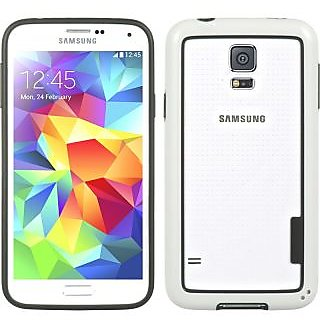 Wow Bumper Case for Samsung Galaxy S5 - White BumpSS5White