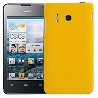 Wow Matte Rubberized Finish Hard Case For Huawei Y310-Yellow MTHY310Yellow