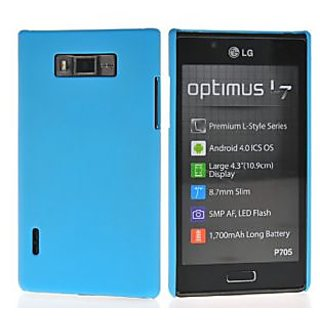 Wow Matte Rubberized Finish Hard Case For Lg Optimus L7 P705 -light Blue MTLGOL7P705LBlue