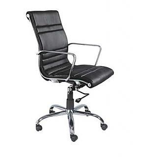 Mavi Black Executive Medium Back Chair-DMB-514