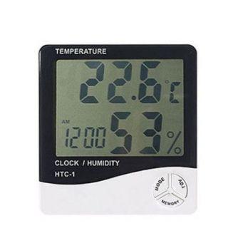 Hygrometer-thermometer-Digital-Temperature--Humidity-Meter--Clock
