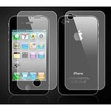 LCD SCRATCH GUARD SCREEN PROTECTOR FOR APPLE IPHONE 4 4G 4S 2 IN 1 FRONT + BACK