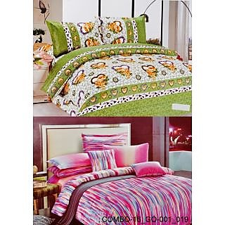 Valtellina set of 2 Double Bad Sheets with 4 pillow covers(COMBO-16_GO-001_019)