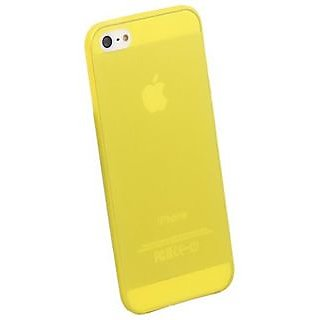WOW Ultrathin Back Cover Case For Apple iPhone 4S - Yellow 3mm4Yellow