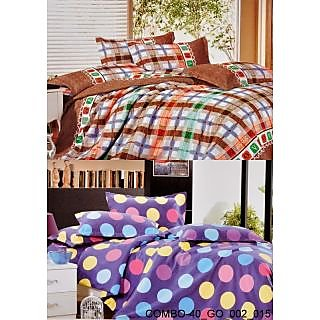 Valtellina set of 2 Double Bad Sheets with 4 pillow covers(COMBO-40_GO-002_015)
