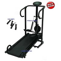 BRANDED LIFELINE 4 IN 1 MANUAL TREADMILL JOGGER 1 YR WRTY HOME GYM+ HAND GRIPS