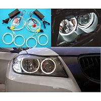 Angel Eyes For All Bikes  Cars  White Colour